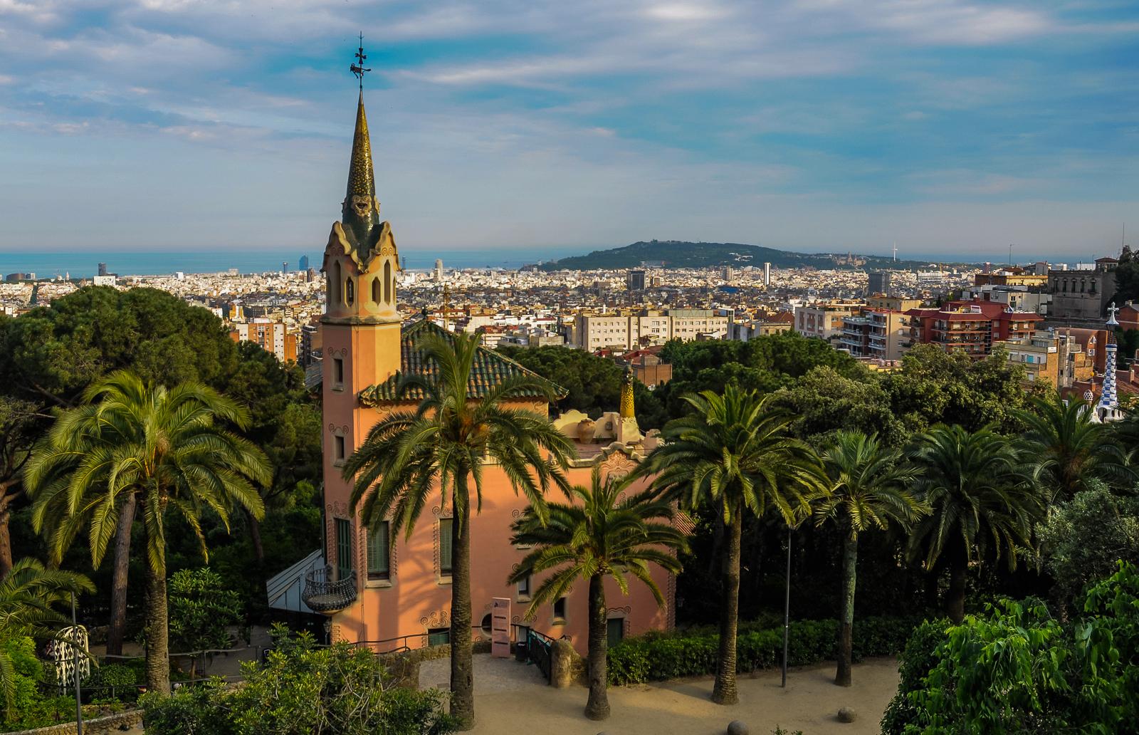 Park Guell Twilight, Barcelona, Spain