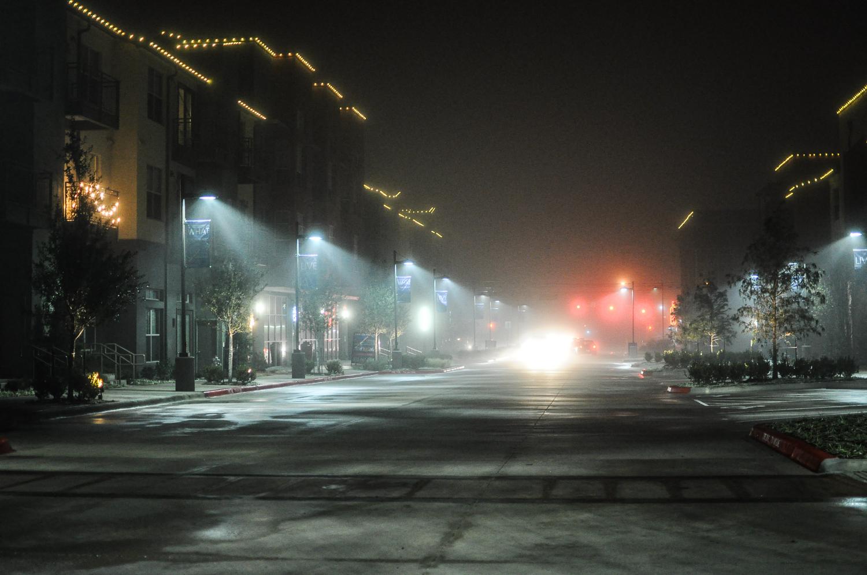 Urban Fog Night, Austin, Texas